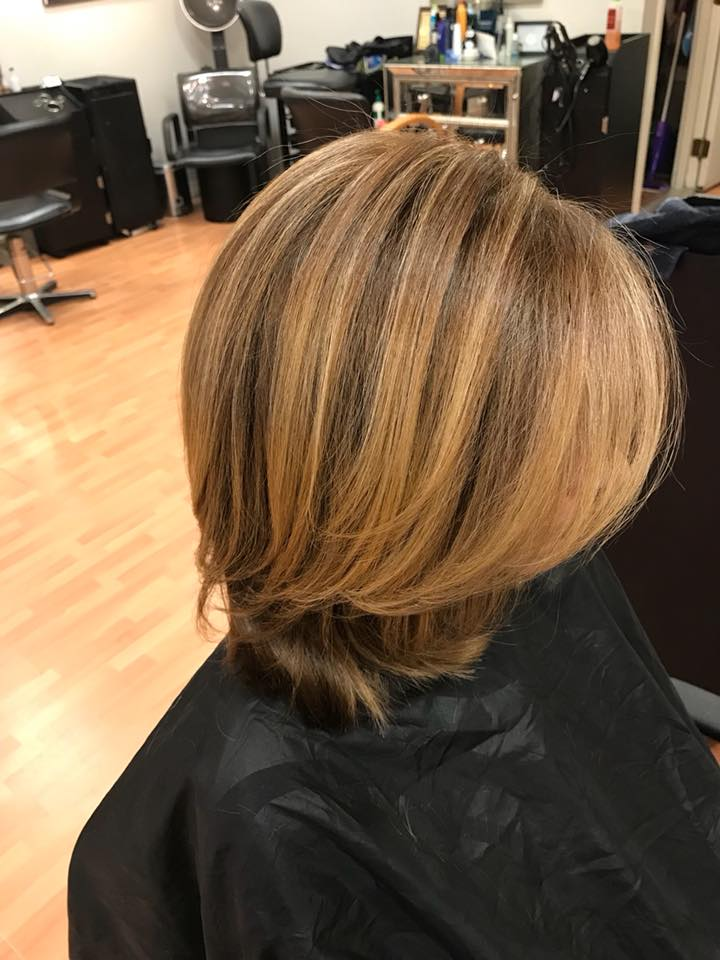 Color, highlights, cut & style by Donna!