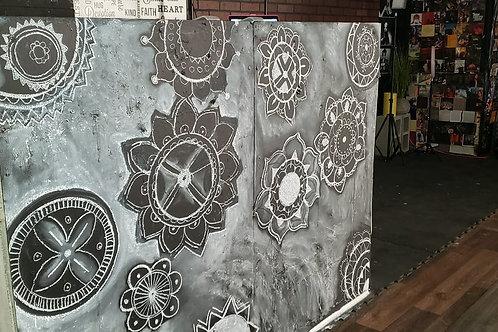 Original Black & White Mandala Art
