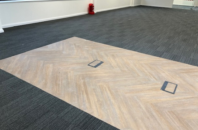 feature flooring to new office