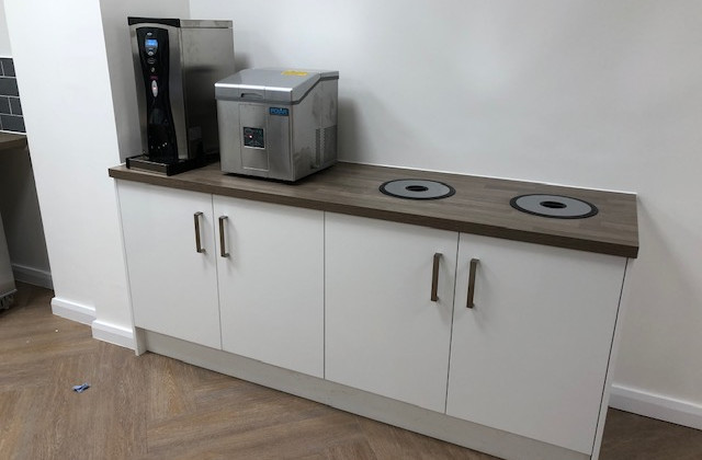 completed drink station and recycling point