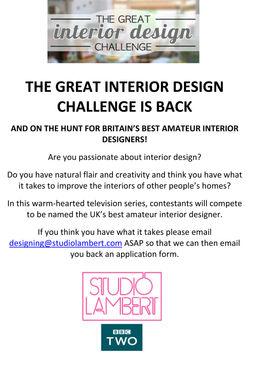 Calling All Amateur Interior Designers