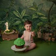séance smash cake Jungle