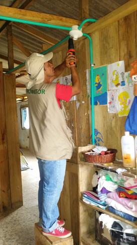 Installing in rural school