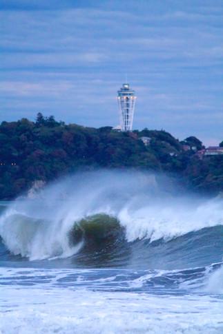 江の島・大波