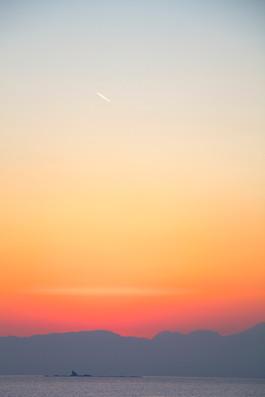 烏帽子岩・夕景