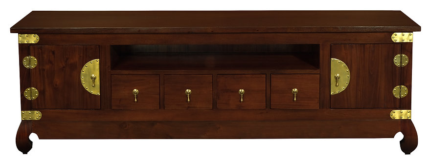 Dynasty 2 Door 4 DVD Drawer Low Entertainment Unit