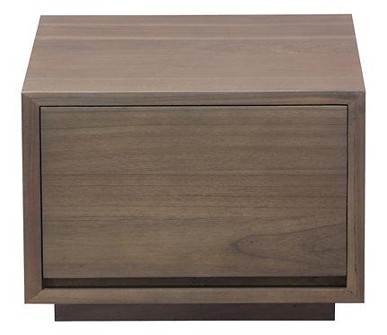 Oscar 1 Drawer Small Bedside Table (Latte)