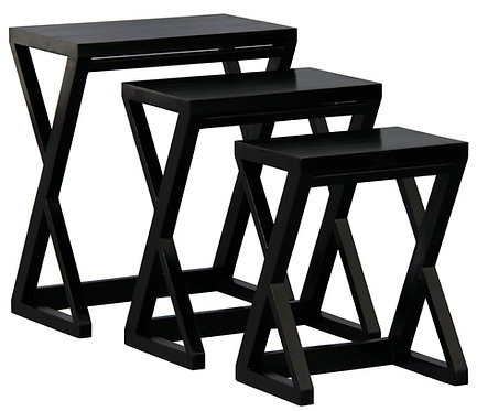 Z Style Nest of Table (Black)