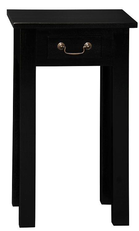 1 Drawer Straight Leg Sofa Table (Black)