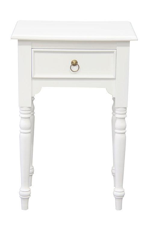 Nueva Turn Leg 1 Drawer Side Table