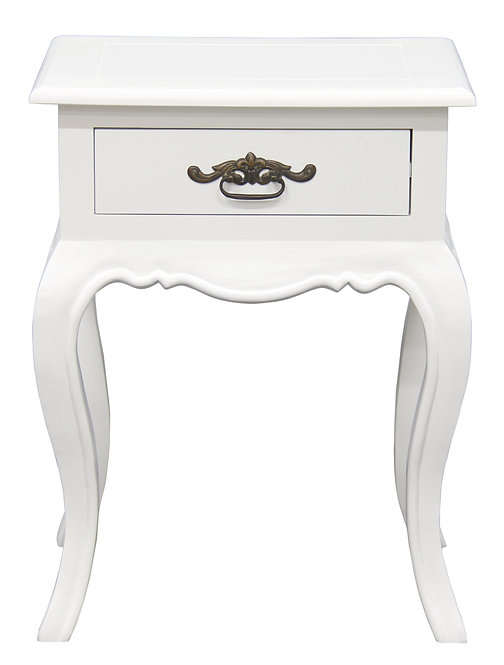 French Provincial 1 Drawer Lamp Table