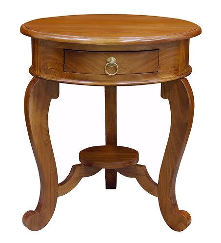 Cabriol Leg 1 Drawer Lamp Table