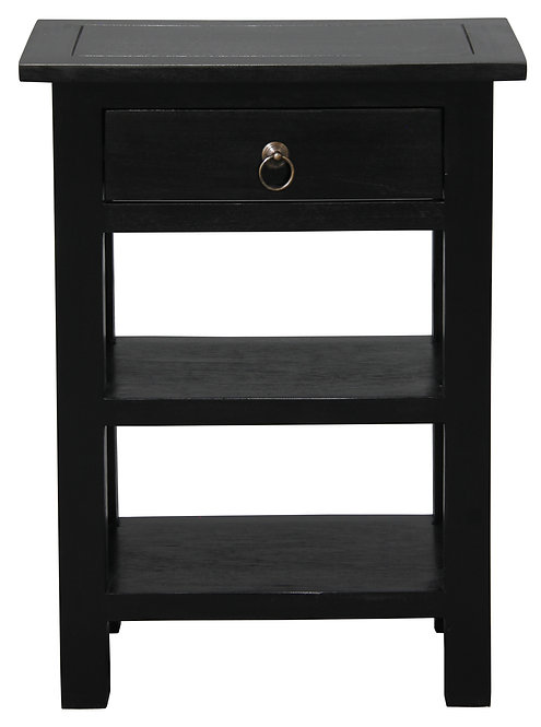 1 Drawer Lamp Table (Black)
