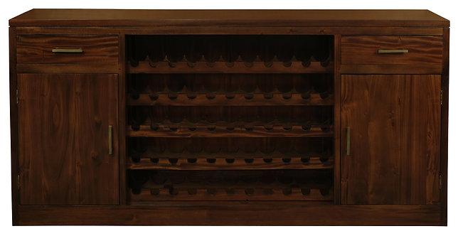 2 Door 2 Drawer Wine Rack