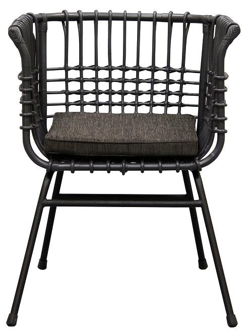 Utopia Accent Rattan Chair (Grey)