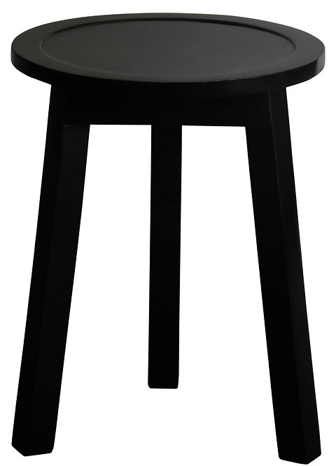 Round Side Table Set of 2 (Black)