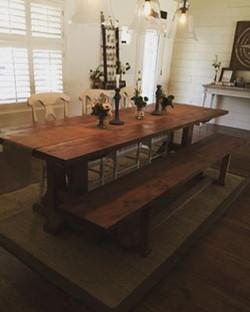 Love the way our customer styled her table! Gorgeous! 😍 #farmhousetable #farmhousedecor #farmhousel