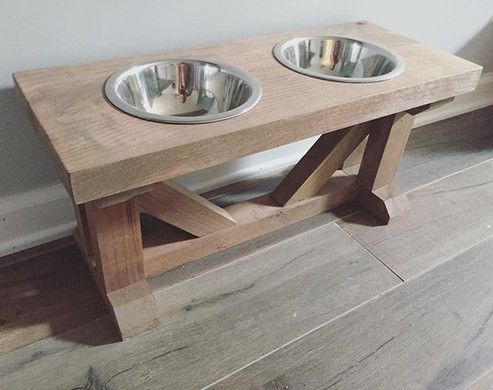 Our furry friends need Farmhouse Tables too! 🐶 #dogbowl #dogsofinstagram #dogs #dogstyle #farmhousestyle #farmhousedecor #etsy #etsyseller #