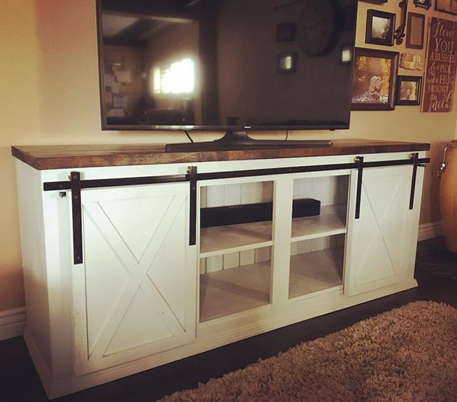 Barn Door Media Console we delivered today