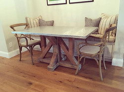 We delivered this awesome Zinc Table today