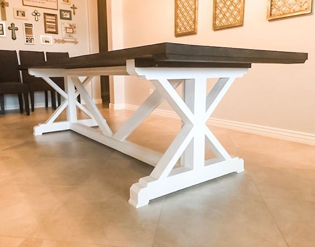 Our X Base Dining Table-simple clean lin