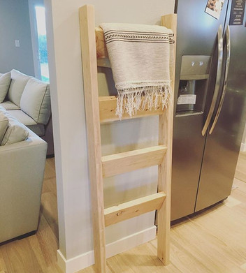 No stain on this blanket ladder-beautiful!