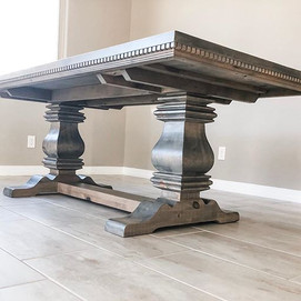 Our Trestle Table with some super gorgeo