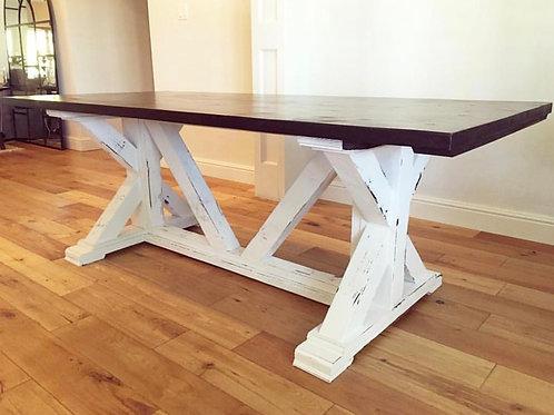 Chunky X Farmhouse Table