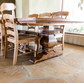 Trestle Table with so much detail and ch