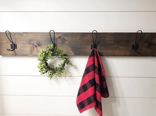 Farmhouse Coat Rack | Towel Rack | Mud Room Hooks