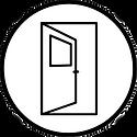 Graphic of open door