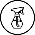 Graphic of cleaning bottle