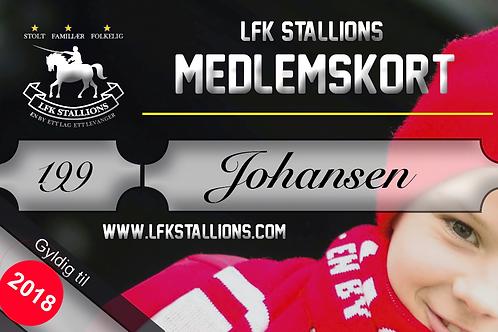 Enkeltmedlemskap LFK Stallions 2018