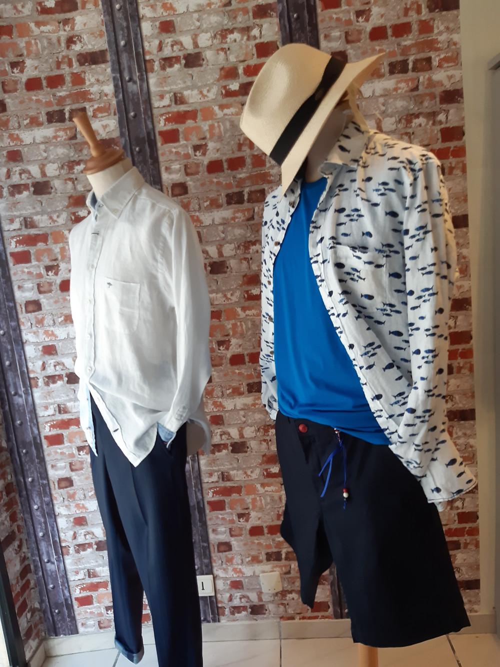 Chemises en lin, facile à porter, s'insèrent sans problème avec des pièces habillées.