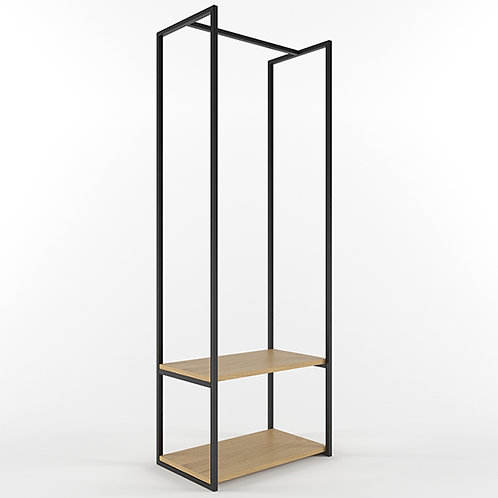 Clothes Rack CUBE 1800 2 shelves