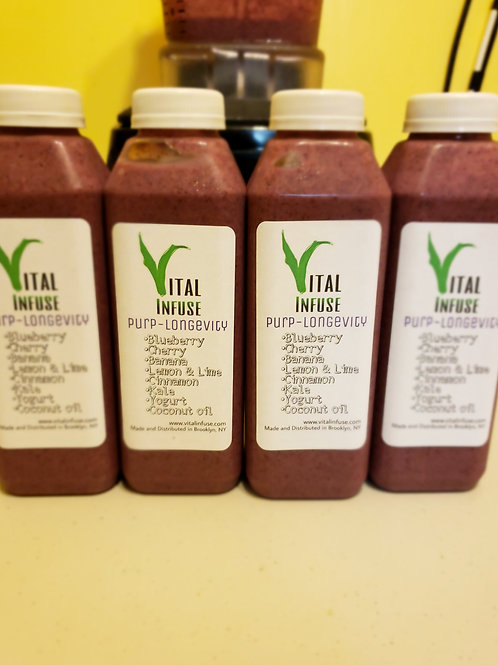 Purp-Longevity 16oz 4-pack Smoothies