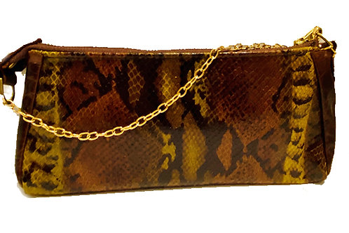 Green and Brown Snake bag- L-4