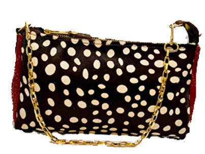 Small Cow hide polka dots