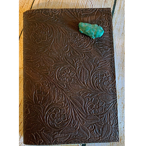 Leather Journal with Turquoise