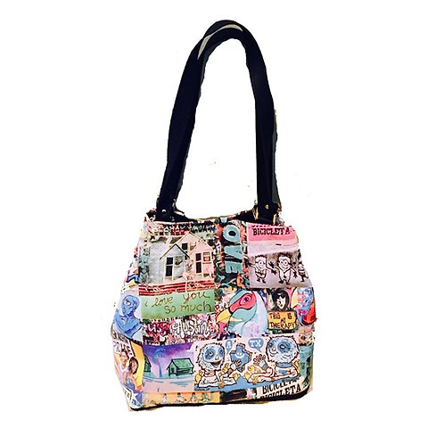 Leather Graffiti Tote