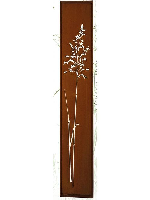 """Edelrost - Paravent """"Grasparavent"""" schmal 200 x 50cm"""