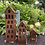 """Thumbnail: Edelrost - Lichthaus/Laterne """"Haus"""" eckig klein"""