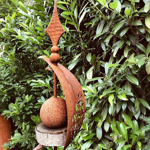 """Edelrost - Gartenstecker """"Mosaik"""" rostig"""