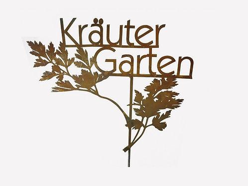 """Edelrost - Stecker """"Kräutergarten"""""""