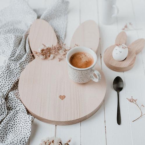 Eulenschnitt - Frühstücks -und Schneidebrett