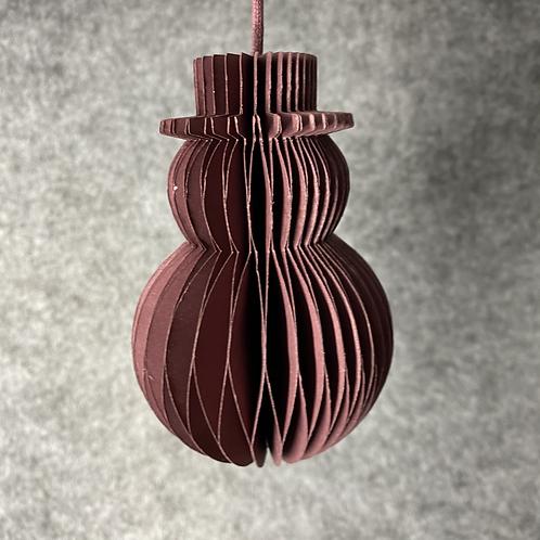 """Weihnachten """"Schneemann 10cm"""" Tannenbaumschmuck rot"""