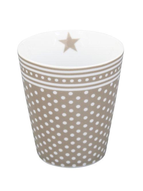 Krasilnikoff Becher/Mug Taupe Dots