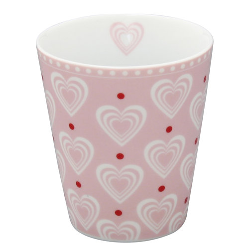 Krasilnikoff Mug Hearts pink