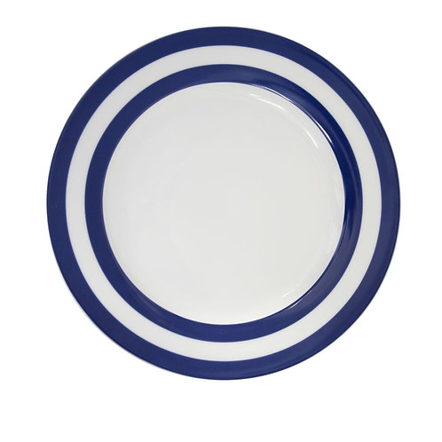 Krasilnikoff Dessertteller Striped dark blue
