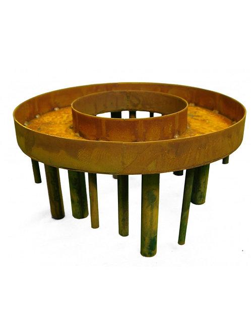 Edelrost Kerzenhalter - Ring  Ø 40 cm